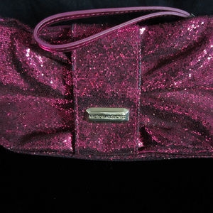 Victoria's Secret Pink Glittery Wristlet Clutch